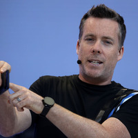 Android PについてプレゼンテーションするDave Burke氏。(c)GettyImages