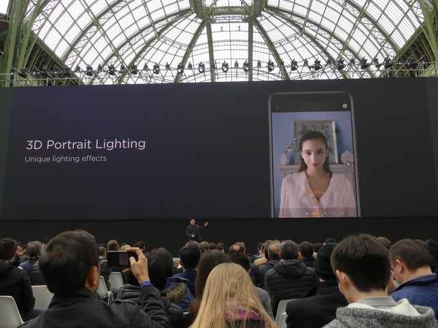 iPhone Xライクな「3D Portrait Lighting」も用意